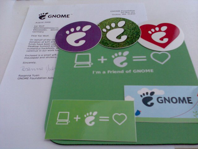 Post von der GNOME Foundation